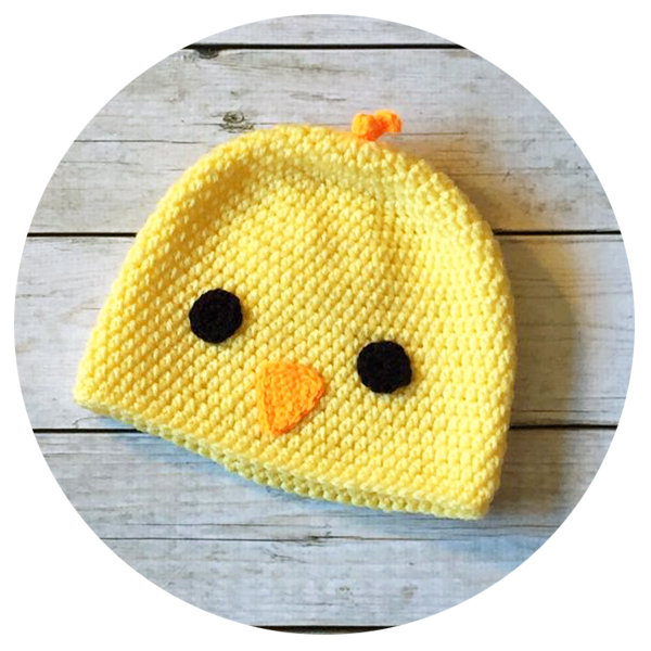 Baby Easter Chick Crochet Hat