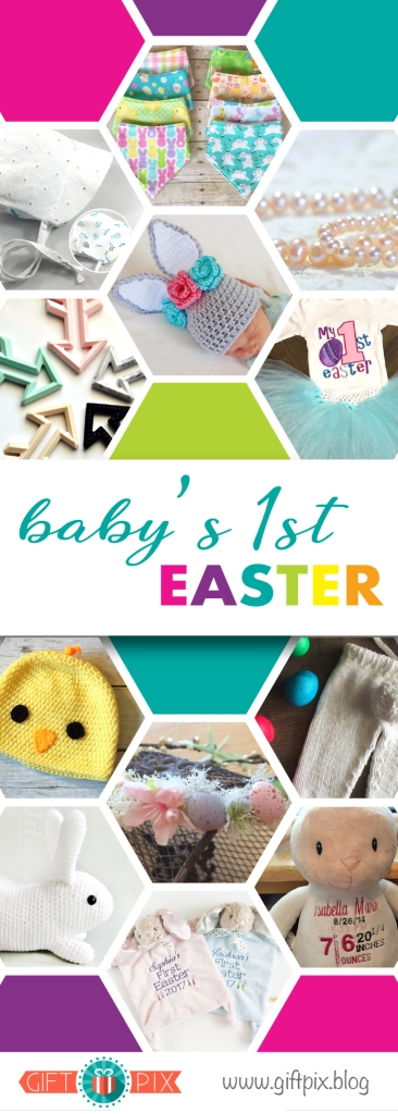 Babys First Easter Gift Guide Graphic