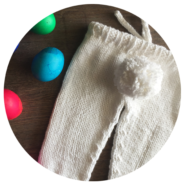 Bunny Tail Knit Baby Pants