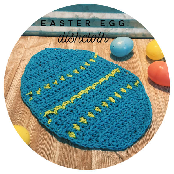 Crochet Easter Egg Dishcloth