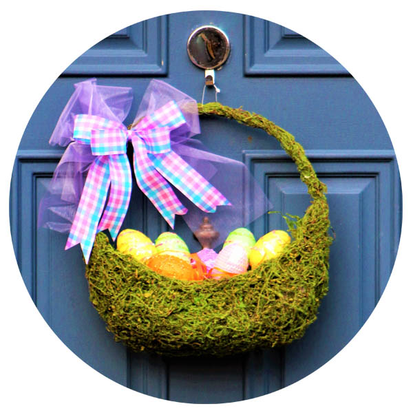 Easter Basket Egg Door Hanger