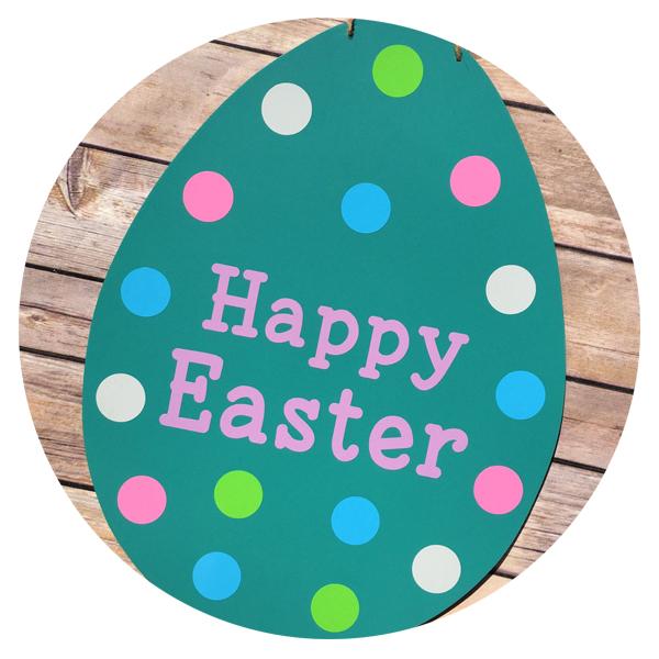 Easter Egg Chalkboard Sign