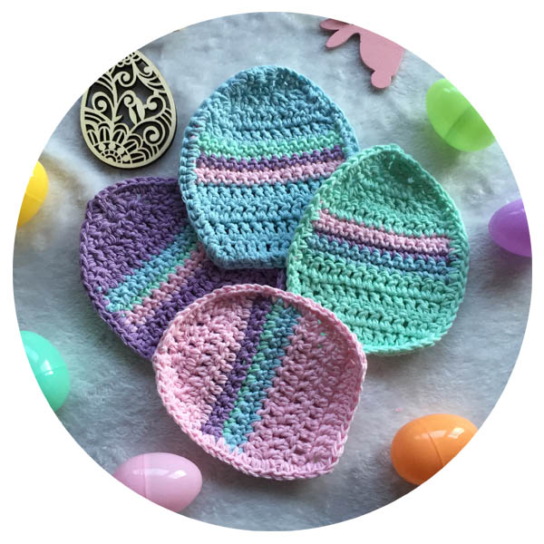 Easter Egg Potholders Crochet