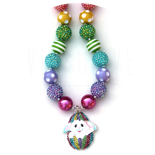 Easter Jewelry Little Girls Chunky Necklace