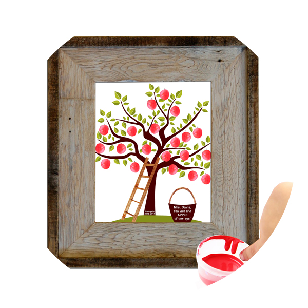 Fingerprint Apple Tree Teacher Gift