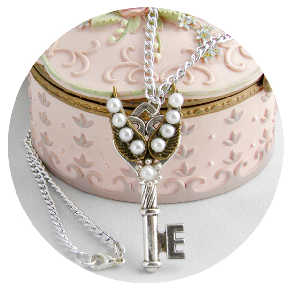 Pearl Key Easter Necklace