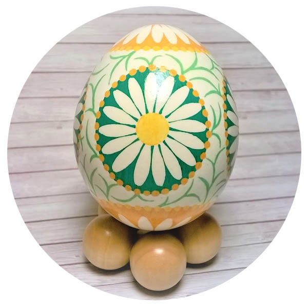 Pysanky Ukrainian Painted Wood Egg