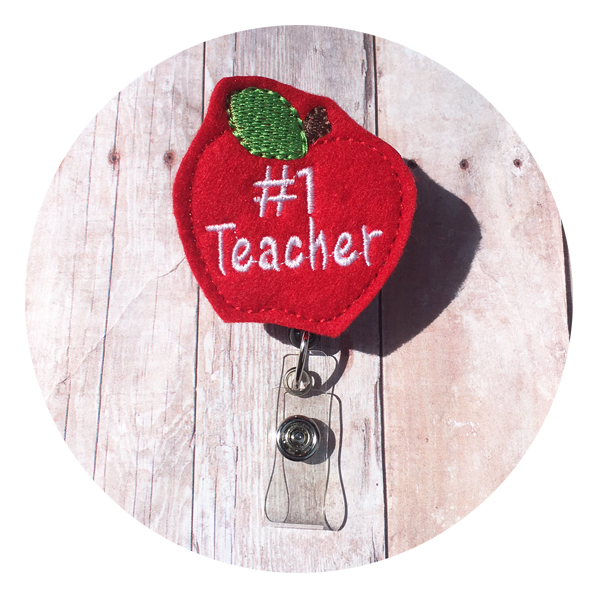 Teacher Apple Badge Reel