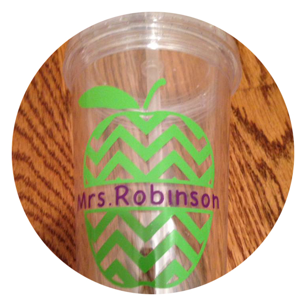 Teacher Apple Personalized Tumbler