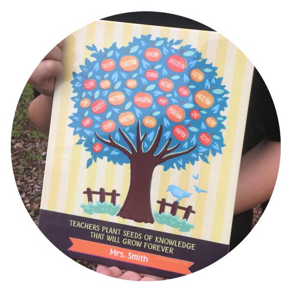 Teacher Gift Apple Tree Plaque
