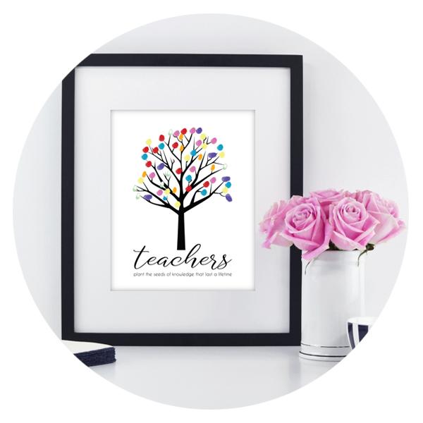 Thumbprint Tree Print
