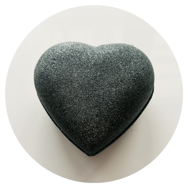 Black Heart Bath Bomb