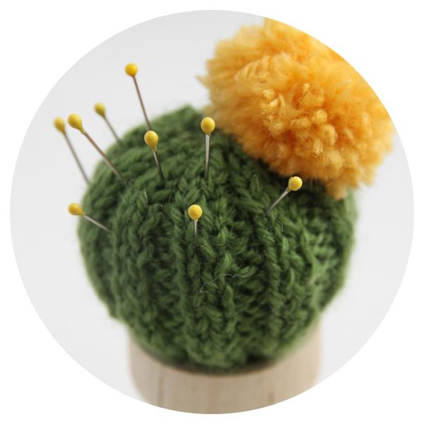 Crocheted Cactus Pin Cushion