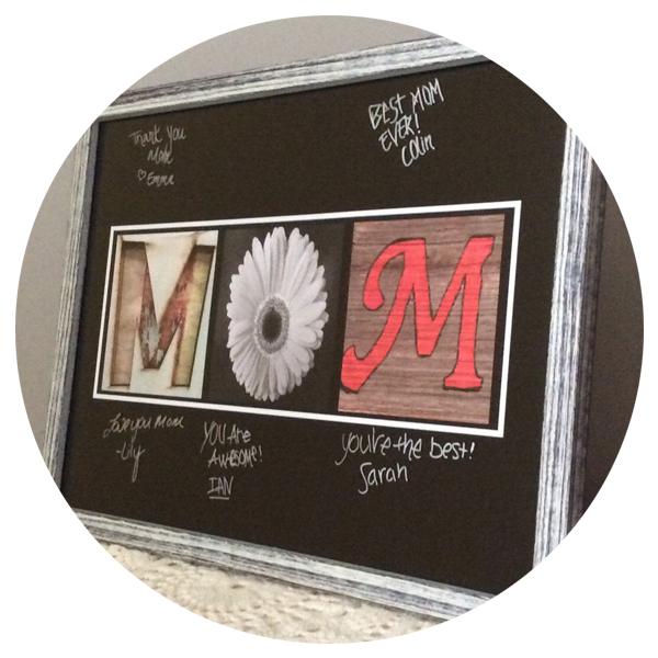 Mom Alphabet Photography Sign