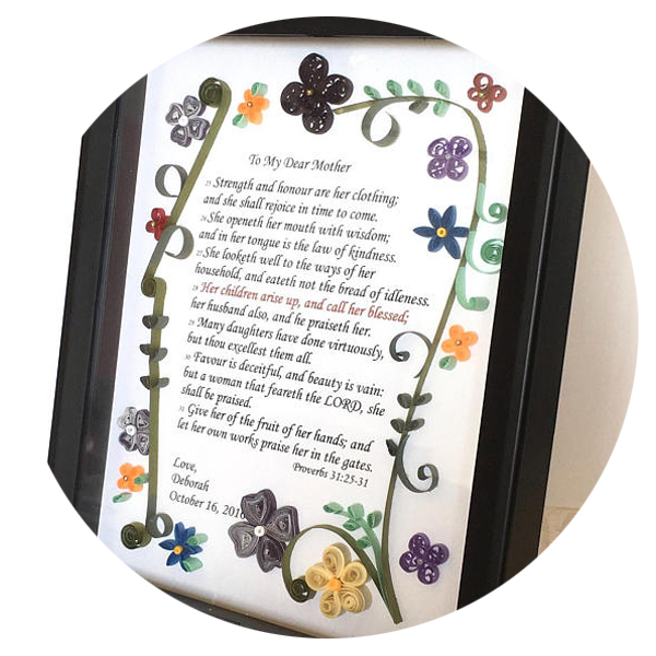 Quilled Paper Mom Keepsake